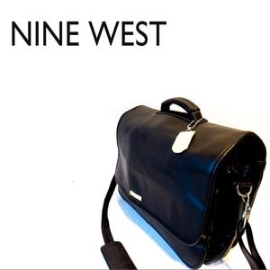 💼🔥 Nine West Leather Briefcase w/ Laptop Sleeve!